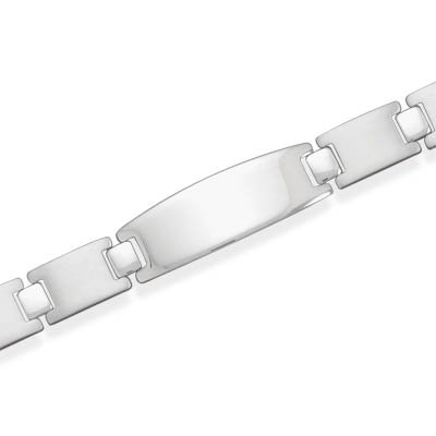Stainless Steel Link with Polished ID Plate