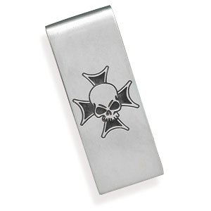 Money Clip with Skull Design