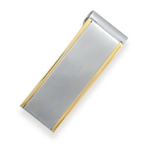 Stainless Steel and 14 K Gold Plated Money Clip