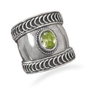 Bali Style Ring with Peridot