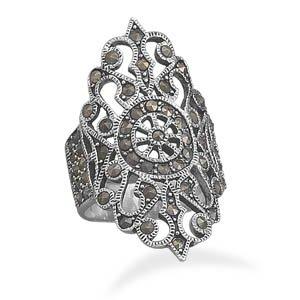 Ornate Marcasite Ring
