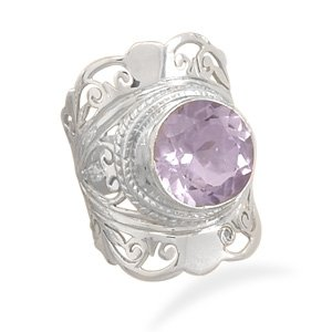 Ornate Pale Amethyst Ring