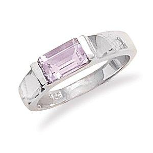 Emerald Cut Amethyst Ring