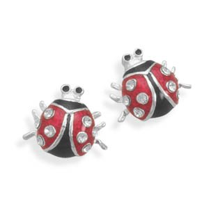 Lady Bug Stud Earrings