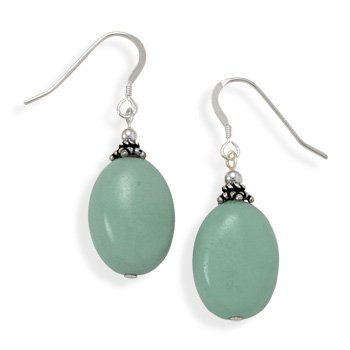 Oval Amazonite Earrings
