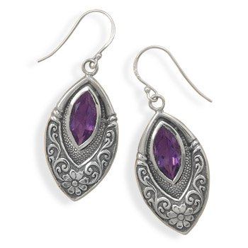Marquise Earrings with Amethyst