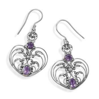 Ornate Amethyst Earrings
