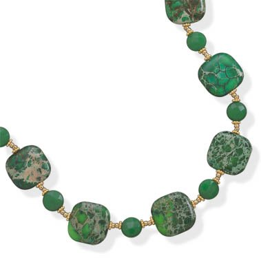 Jasper and Jade Necklace