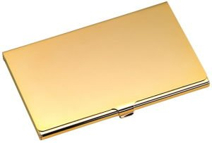 Business Card Case Gold Tone