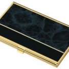 Business Card Case Black Marble