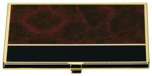 Business Card Case Brown Marble