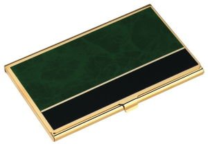 Business Card Case Green Marble