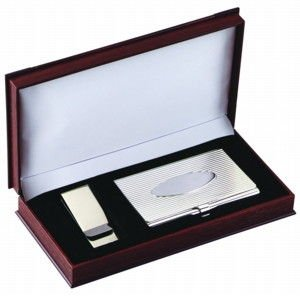 Card Case and Money Clip Gift Set