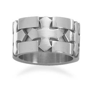 3 Cross Design Ring