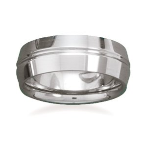 Tungsten Carbide Ring with Beveled Edges