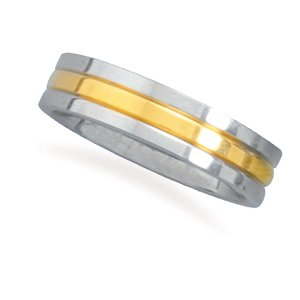 Stainless Steel and 14 Karat Gold Plated