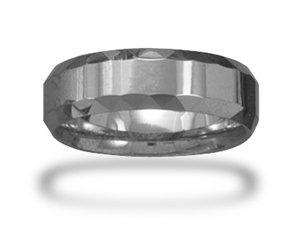 Tungsten Carbide with Faceted Edge