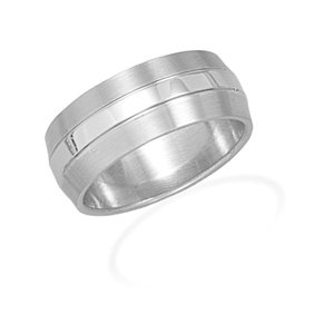 9mm Ring with Brushed Edges