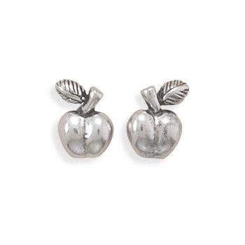 Oxidized Apple Earrings