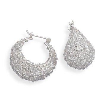 Wire Design Hoop Earrings