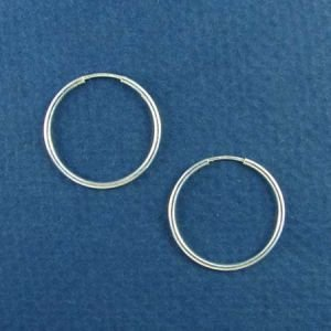 22mm Thin Sterling Silver Hoop