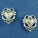 14K Gold and Sterling Silver Heart