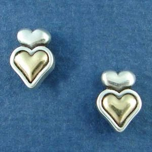 14K Gold and Sterling Silver Heart II