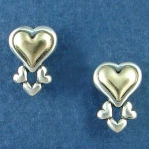 14K Gold and Sterling Silver Heart III