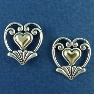14K Gold and Sterling Silver Heart IV
