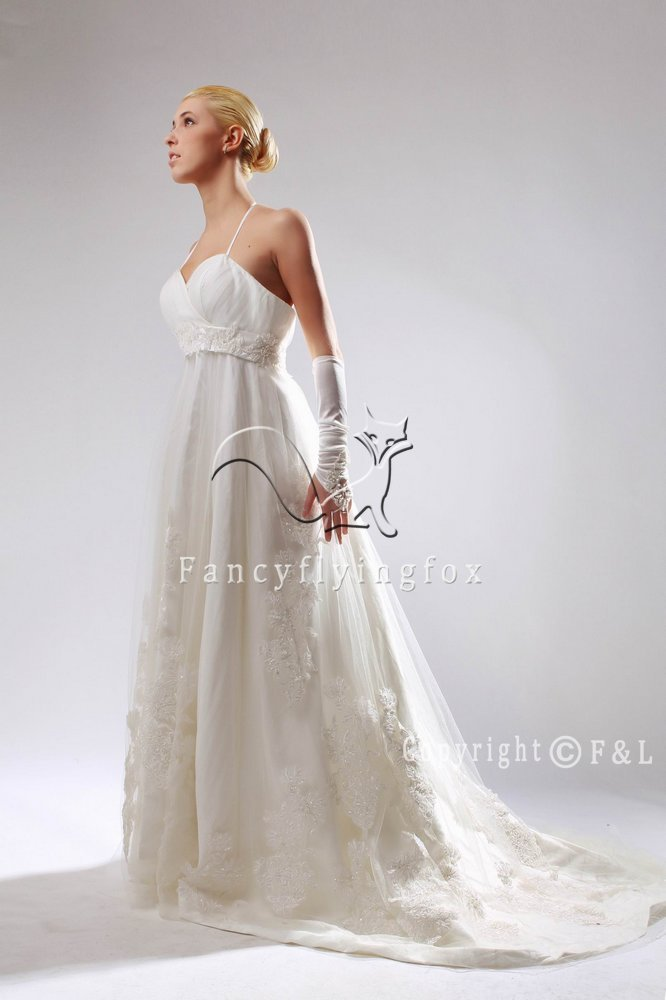 Beautiufl Lace Maternity Bridal Gown 133