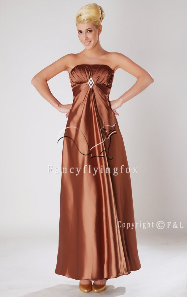 Brown Maternity Prom Dress Evening Dress