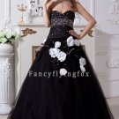 2011 Black and White Sweetheart Princess Quinceanera Dresses 001