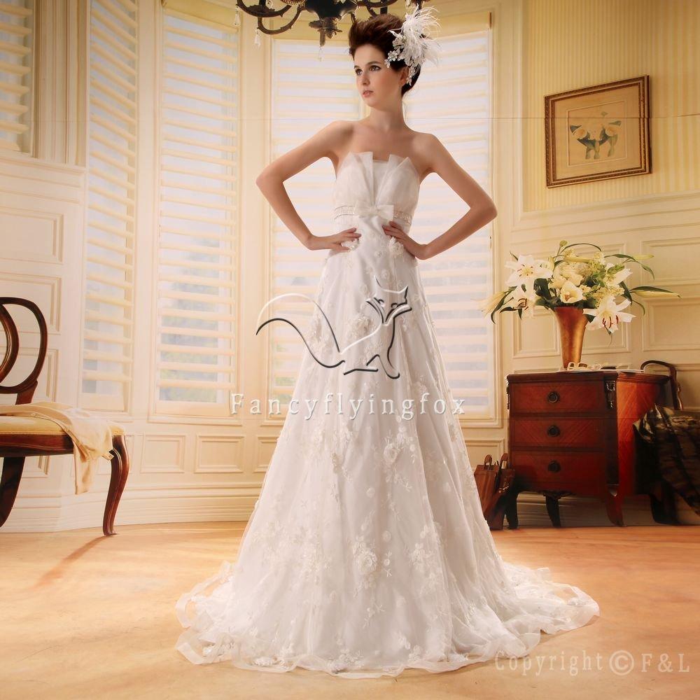 2013 Spanish Strapless Simple Wedding Dress PRO6
