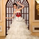2013 Burgundy and White Special Wedding Gown PRO5