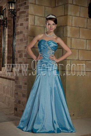 Stunning Sky Blue Mermaid Prom Dress 001