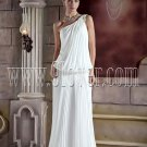 One Shoulder Pleats Casual Bridal Gown Style 874897