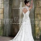 Lace Keyhole Back slim wedding dress Style T3342