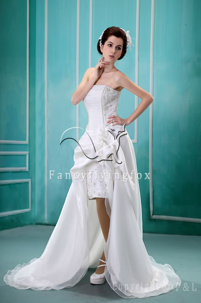 High-low Hem Beach Wedding Dress CWG377