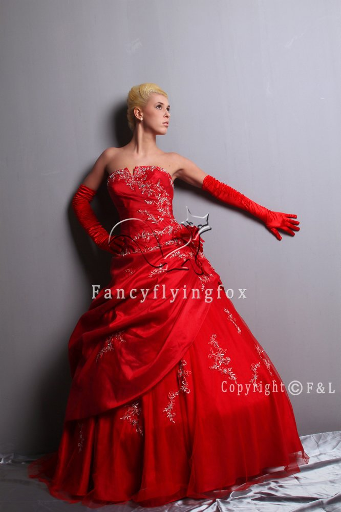 2013 Red Pretty Quinceanera Gown Dress 011