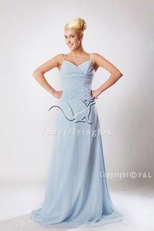 Light Blue Plus Size Evening Dress XYY009
