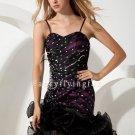 Black High-Low Hem Pageant Dress 78545A