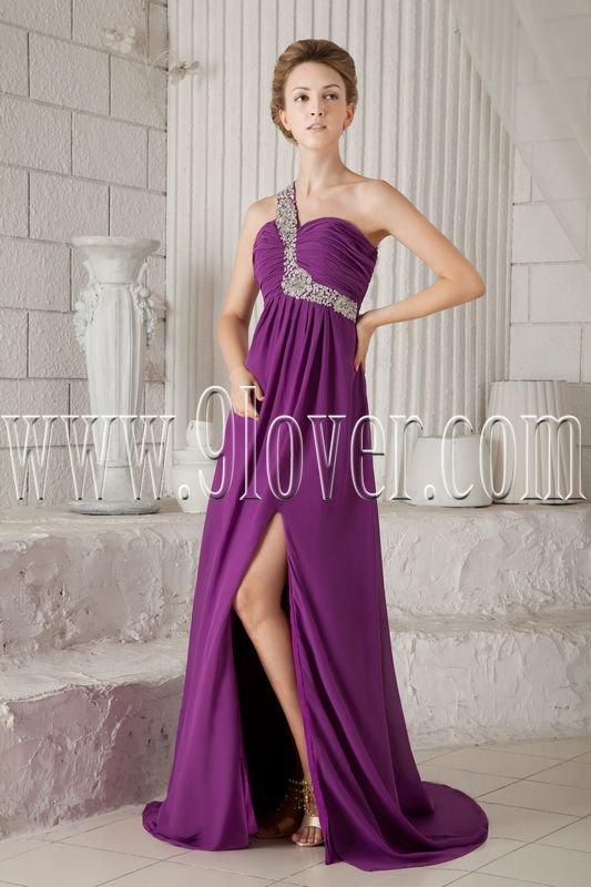 2013 summer skirt beach casual chiffon one shoulder a-line floor length evening dress IMG-9425
