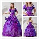 luxuriy 2013 purple taffeta ball gown floor length quinceanera dress IMG-1379