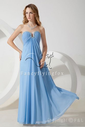 2013 elegant ice blue chiffon empire summer skirt bridemaid dress IMG-1452