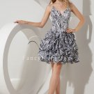 modern pinto spaghetti straps ball gown mini length mother of the bride dress IMG-2174