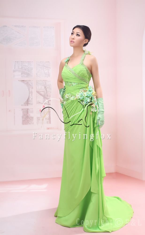 sexy spaghetti straps kelly chiffon a-line floor length evening dress 2011Y-072