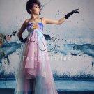 modern colorful spaghetti straps a-line floor length prom dress 2011Y-345