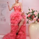 beautiful water melon tulle spaghetti straps cocktail dress 2011Y-353