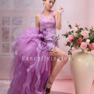 charming lavender satin hater a-line cocktail dress 369