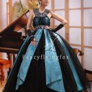 modern black tulle halter neck ball gown floor length quinceanera dress ok-15